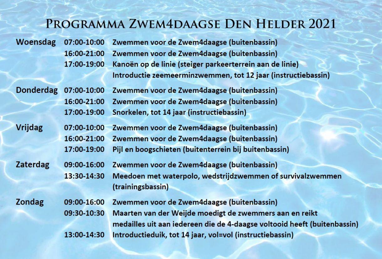 Prograama Zwem4daagse 2021